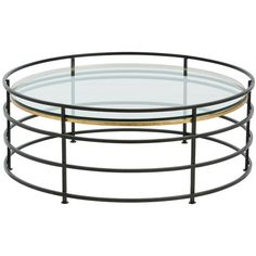 Arteriors Nosh Cocktail Table (6,670 CNY) ❤ liked on Polyvore featuring home, furniture, tables, accent tables, home decor, coffee table, gold leaf table, gold leaf coffee table, iron table and black cocktail table