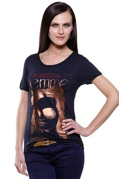 Fashion My Day : Copper Foil Printed Ladies Top