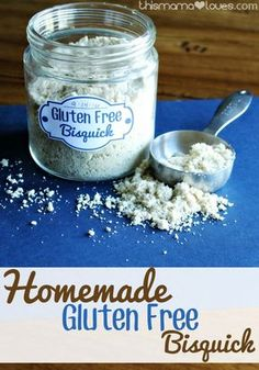 Homemade Gluten Free Bisquick Recipe from This Mama Loves.