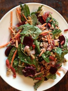 The Ultimate Bliss Salad With Ginger Miso Dressing