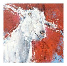 Soc Art goat goats acrylic canvas animal Sharon O'Connor Melbourne