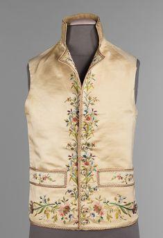 1800. French. silk, linen, metal, cotton. metmuseum