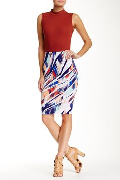 Printed Pull-On Pencil Skirt by Necessary Objects on @nordstrom_rack