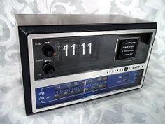 sold vintage ge general electric electronic digital fm am clock radio model 7. Black Bedroom Furniture Sets. Home Design Ideas