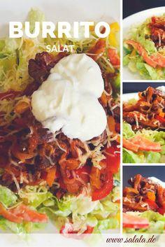 """Burrito Salat ist so ein bisschen wie Big Mac Salat – nur anders. Aber auch geil Ok, das war jetzt irgendwie platt. Nochmal von vorne: Burrito Salat ist im Prinzip ein Burrito mit ohne Tortilla außenrum und auch ohne schwarze Bohnen – womit wir relativ automatisch in der Low Carb Gegend sind – praktisch, oder? Und wer braucht schon Weizentortillas? Salat klingt auch viel cooler… """"Salat"""" – hörst du es auch?"""