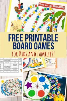 These free printable board games for kids are a great resource for learning at home or in school. A simple way to increase your board game collection! #printables #boardgames #kidsgames #kidsactivities #parenting #teaching #preschool #kidsplay #playbasedlearning #socialskillsgroup #viewsfromastepstool