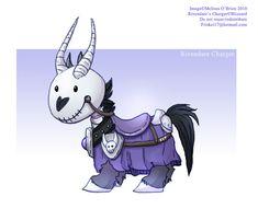 Warcraft: Chibi Deathcharger by frisket17.deviantart.com on @deviantART
