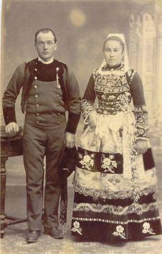 Costume , 1910 Bretagne - France