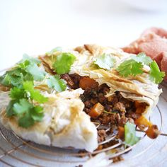 A healthier WW recipe for Lamb and vegetable filo pie ready in just Get the SmartPoints value plus browse other delicious recipes today! Lamb Recipes, Ww Recipes, Healthy Recipes, Spinach Leaves, Fresh Coriander, Recipe Today, How To Dry Oregano, What To Cook
