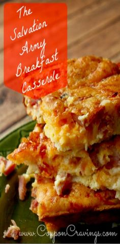 This breakfast casserole is a make ahead breakfast that is hit for family meals or a brunch party. This is a winner with the whole family and a crowd pleasing ham breakfast casserole and can even be changed to a sausage breakfast casserole, too.
