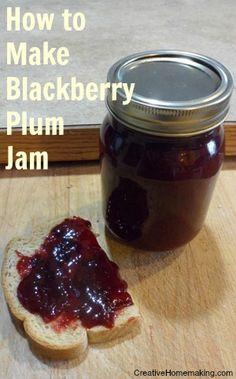 Homemade blackberry plum jam. Yum!