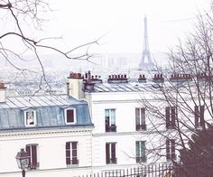 Paris Photography Montmartre view Parisian by rebeccaplotnick #paris #montmartre #rooftops #eiffeltower