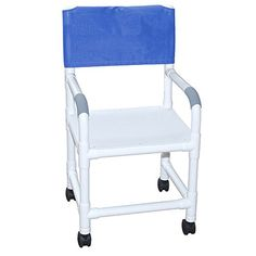 MJM International 1183TWF Standard Shower Chair with Flat Stock Seat 300 oz Capacity 405 Height x 22 Width x 2525 Depth Royal BlueForest GreenMauve -- Detailed information can be found by clicking on the VISIT button
