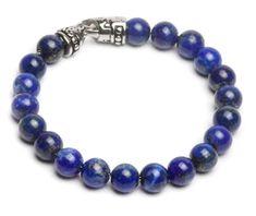 LAPISOR - pánsky náramok - kameň: lápis lazuli + oceľ, dĺžka: 21,5cm Krabi, Lapis Lazuli, Beaded Bracelets, Jewelry, Lifestyle, Fashion, Moda, Jewlery, Jewerly