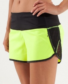 Bright activewear. Lululemon Sun Sprinter Short. TopShelfClothes.com