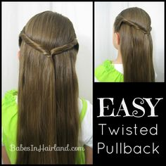 Easy Twisted Pullback from. Great for school mornings when you're running late!