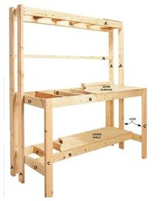 Workbench plans free 2 in 1 shop cart woodworking plan use this simple to build a . build a workbench Building A Workbench, Woodworking Workbench, Easy Woodworking Projects, Woodworking Shop, Workbench Ideas, Garage Workbench, Workbench Organization, Folding Workbench, Workbench Designs