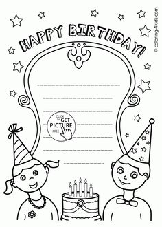 httpcoloringscoprintable coloring pages birthday for boys
