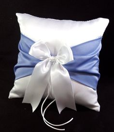 Ivory or White Wedding Ring Bearer Pillow Fast & Free Periwinkle Wedding, Periwinkle Blue, Ivory Wedding, Wedding Pillows, Ring Pillow Wedding, Wedding Ring, Wedding Jewelry, Dream Wedding, Ring Bearer Pillows
