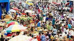 Traders ply their wares at Makola Market, Accras main market and shopping district.  Pinned from PinTo for iPad 
