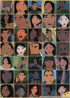 The many faces of Mulan ★ || Art of Walt Disney Animation Studios © - Website | (www.disneyanimation.com) • Please support the artists and studios featured here by buying their artworks in the official online stores (www.disneystore.com) • Find more artists at www.facebook.com/CharacterDesignReferences  and www.pinterest.com/characterdesigh || ★