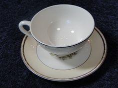 Homer Laughlin Eggshell Georgian English Regency Footed Tea Cup Saucer Set #HomerLaughlin