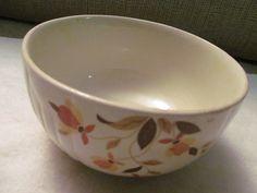 Jewel Tea medium mixing 1.5 qt. bowl Autumn leaf  Hall China #bestofEtsy #gifts