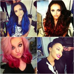 Little Mix new hair colors! love them!!