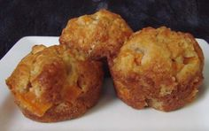 Peach Muffins from Food.com: Make with fresh or canned peaches. Can be made as a loaf, if desired.