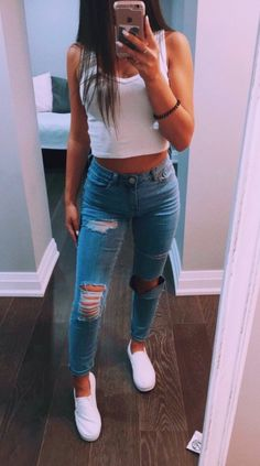 Shop from over styles. Casual School Outfits, Cute Comfy Outfits, Cute Casual Outfits, Teen Fashion Outfits, Basic Outfits, Cute Summer Outfits, Simple Outfits, Outfits For Teens, Stylish Outfits