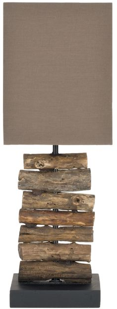 "Safavieh Woodland 19.7"" H Table Lamp with Square Shade & Reviews 