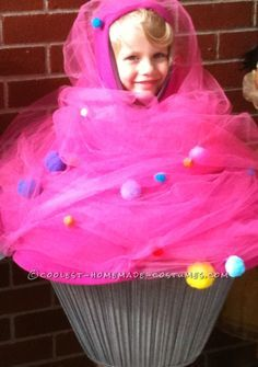 pink cupcake toddler costume with sprinkles and a cherry on top - Halloween Costume Cupcake