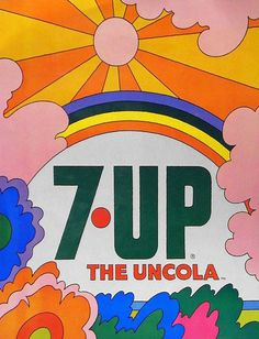John Alcorn, illustration for 7up – The Uncola, late 1960s.