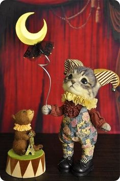 Click VISIT link for more details Paper Animals, Felt Animals, Needle Felted Animals, Needle Felting, Handmade Stuffed Animals, Coloring Book Art, Fairy Figurines, Forest Creatures, Polymer Clay Dolls