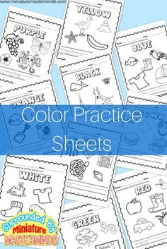 Free Printable Color Practice Sheets I have made these color practice worksheets to go along with yesterday's shape practice worksheets. Each page is centered on a specific color and writing … Kindergarten Colors, Preschool Colors, Teaching Colors, Free Preschool, Preschool Printables, Preschool Lessons, Preschool Worksheets, Preschool Learning, Coloring Worksheets