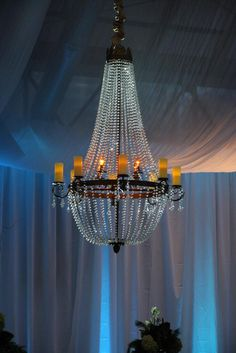 Beautiful, elegeant chandelier used at a Corporate Holiday Party at The Depot in Minneapolis, MN