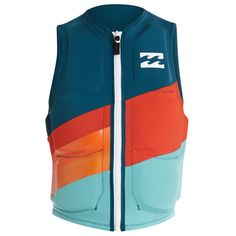 Get free shipping at the Billabong online store. Offering more bang for your buck, the Slice Non CGA Front Zip Wakeboard Vest delivers comfort and stretch panels you need at an entry level price.