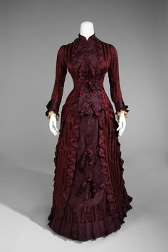 Silk wedding ensemble, 1878