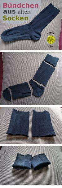 Cuffs made of socks upcycling DIY . - Cuffs made of socks upcycling DIY More - Sewing Hacks, Sewing Tutorials, Sewing Projects, Sewing Clothes, Diy Clothes, Diy Kleidung, Diy Vetement, Upcycled Crafts, Upcycled Clothing