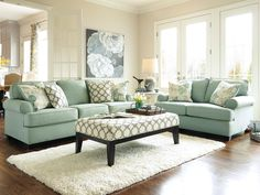 Daystar Living room set brings joy to your house. The accent ottoman and pillows are extremely beautiful. It's all about light, harmony, and relaxation