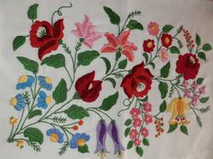 Embroidery Hungarian Kalocsa pillow  handmade by macaristanbul, $55.00