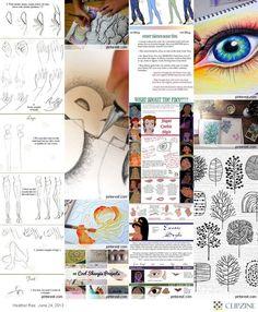 DIY Drawing Tutorials #diy  #crafts    http://doityourselfcollections.blogspot.com