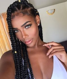 42 Chunky Cool Jumbo Box Braids Styles in Every Length - Part 24