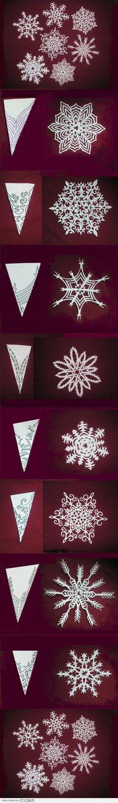 Papier Schneeflocken basteln