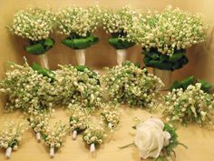 Lily of the valley bouquet by UYFlowersByNicole on Etsy