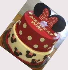 mickey mouse birthday party ideas - I love just the top layer for Kaitlyn's birthday cake!