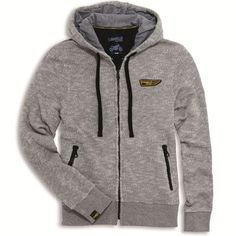 Ducati Scrambler Wing Zip-Up Hooded Sweatshirt Grey Hoodie Grey Hooded Sweatshirts, Hoodies, Ducati Scrambler, Motorcycle Outfit, Performance Parts, Grey Sweatshirt, Hooded Jacket, Zip Ups, Sweaters