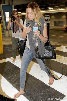 Lauren Conrad at Miami International Airport in Miami, Florida - February 28, 2013