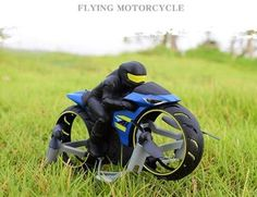 2 In 1 Remote Control Motorcycle Land And Air – Deals-o-saur Mini Automatic, Best Christmas Presents, Presents For Kids, Charging Cable, 2 In, Quad, Remote, Two By Two, Aircraft