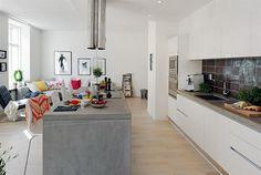 Modern 74 Square Meter Small Apartment Design Idea